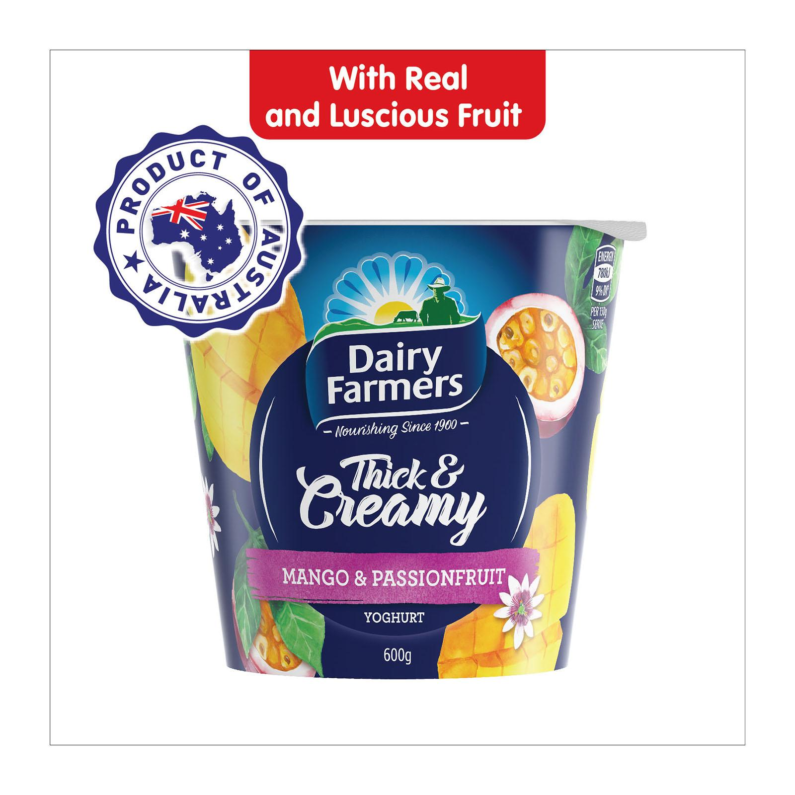 Dairy Farmers Thick And Creamy Mango Passion Fruit Yoghurt