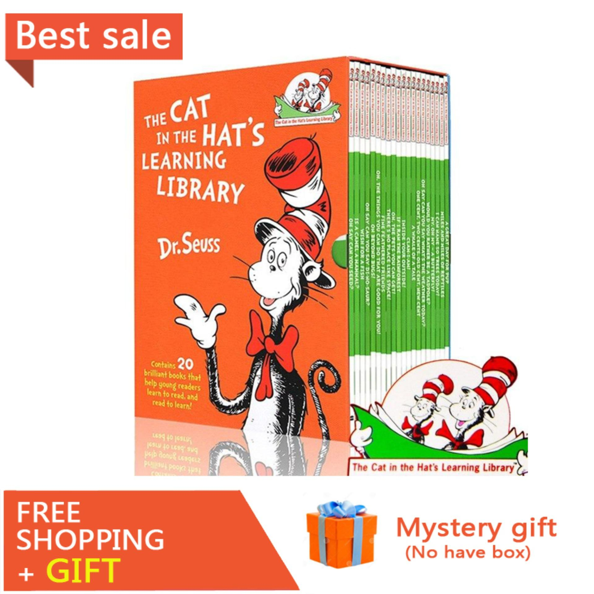 20 Books/Set Dr. Seuss Cat In The Hats Library English Story Books for Children Kids Coloring Book Dr Seuss Early Learning Education