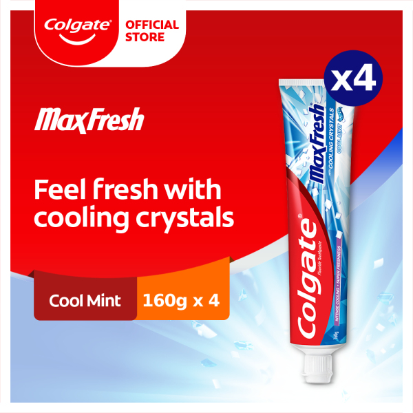 Buy Colgate Max Fresh Cool Mint Toothpaste 160g x 4 (188189206-4) Singapore