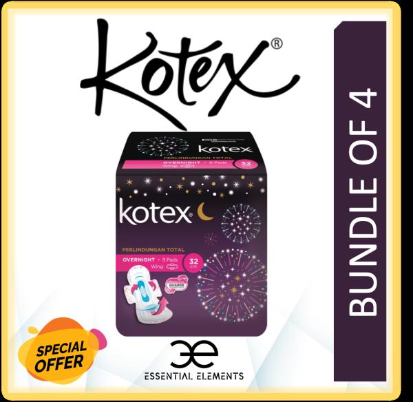 Buy KOTEX [BUNDLE OF 4] SANITARY PAD Overnight Wing 32cm Over Night Wing Singapore