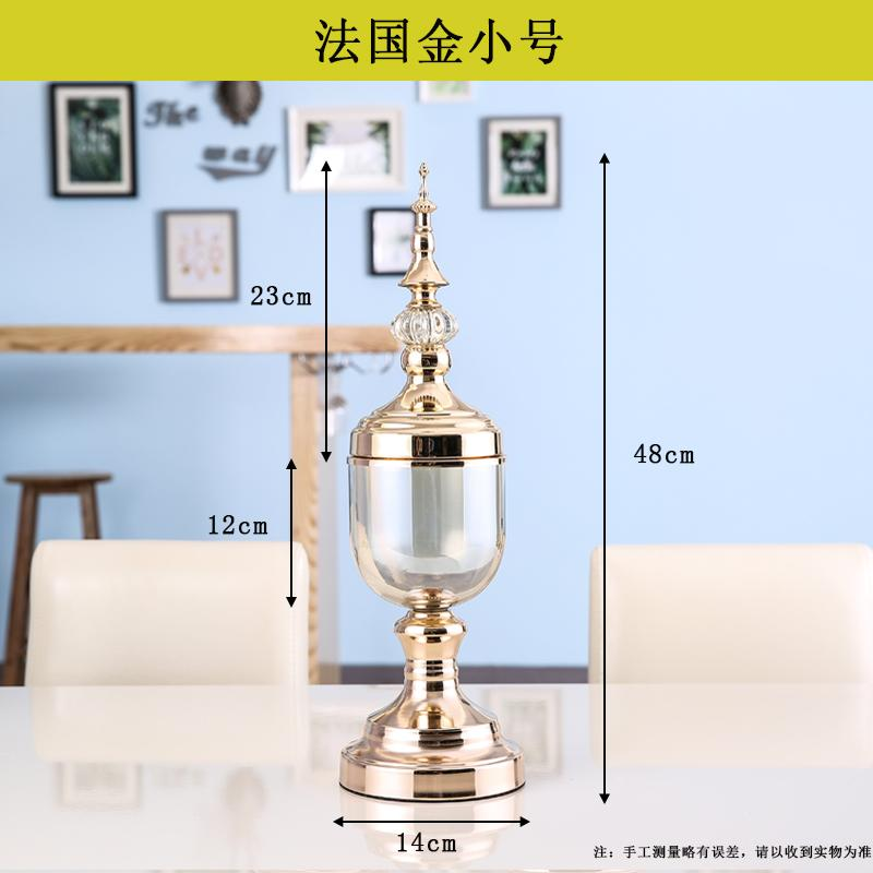 Creative Glass Vase Transparent European Style American Simple Dried Flower Arrangement Decorations Table TV Cabinet Living Room Home