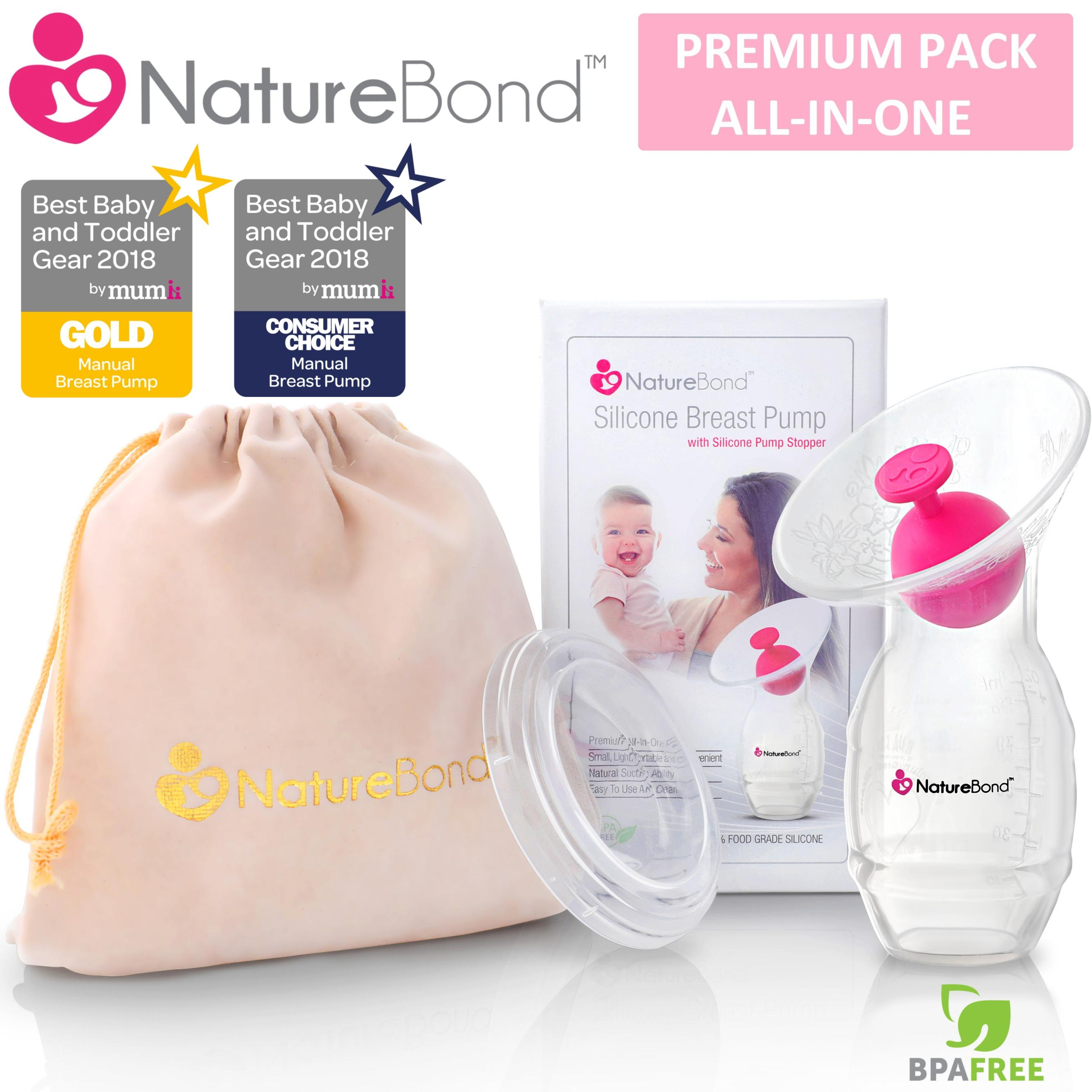 Naturebond Silicone Breast Pump With Silicone Stopper Premium Pack ★hot Sale★ By Naturebond.