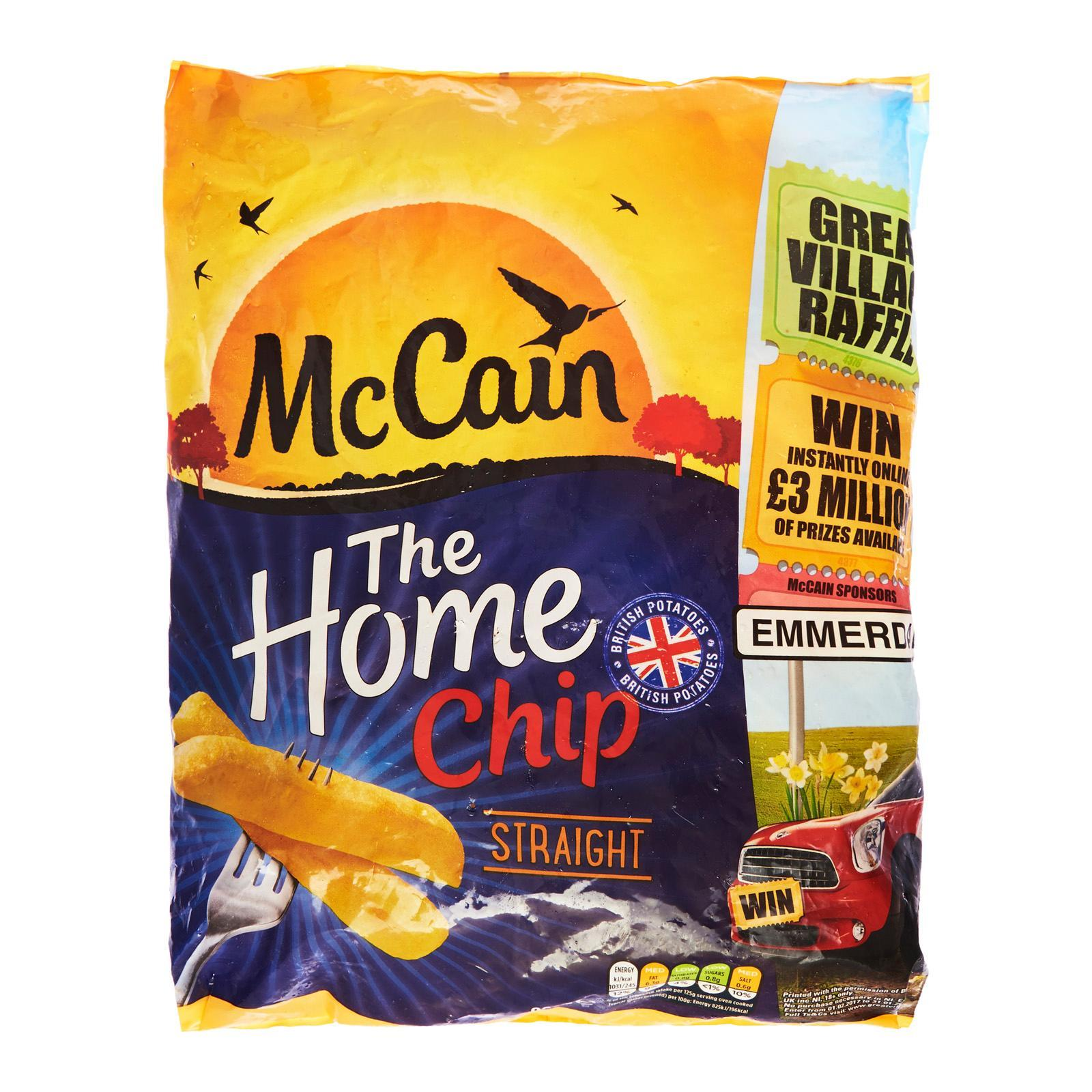 Mccain Home Straight Cut Chips - Frozen By Redmart.