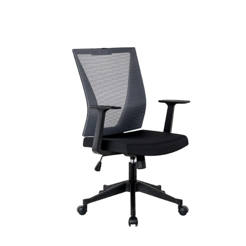 Mid Back Office Mesh Chair with removeable armrest; Baycus Office Mesh Chair; Ergonomic Mid Back Mesh Chair Singapore