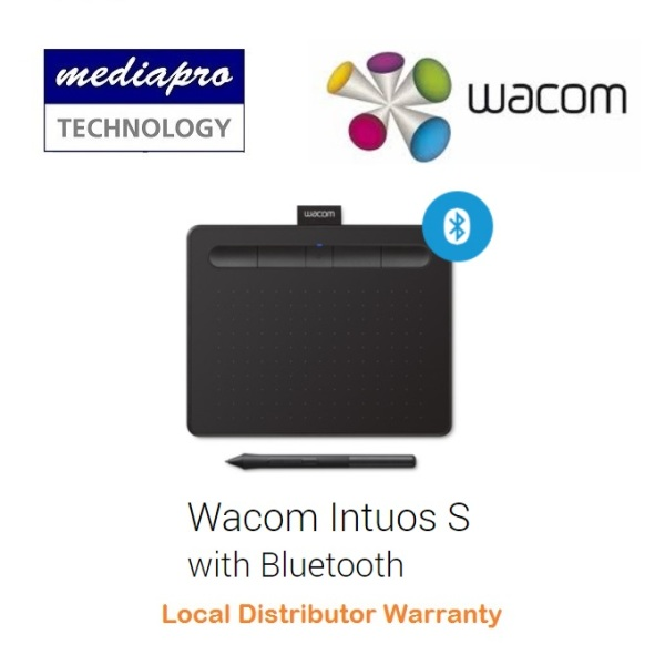Wacom Intous Small CTL-4100WL/K0-CX Bluetooth Graphic Drawing Pen Tablet - CTL-4100WL - Local Distributor Warranty