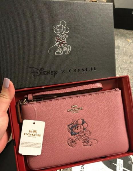 Coach Minnie Mouse Large Wristlet with Motif