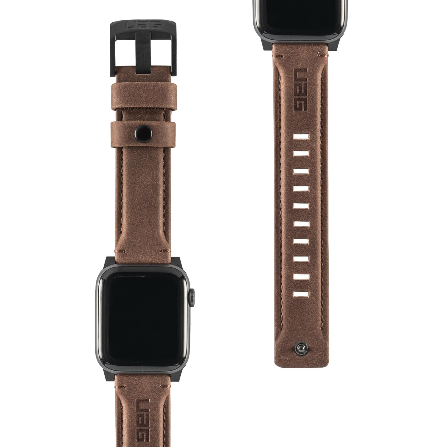 Uag Apple Watch (44mm/42mm) Leather Strap (series) By Uag By Dominant Gadget..