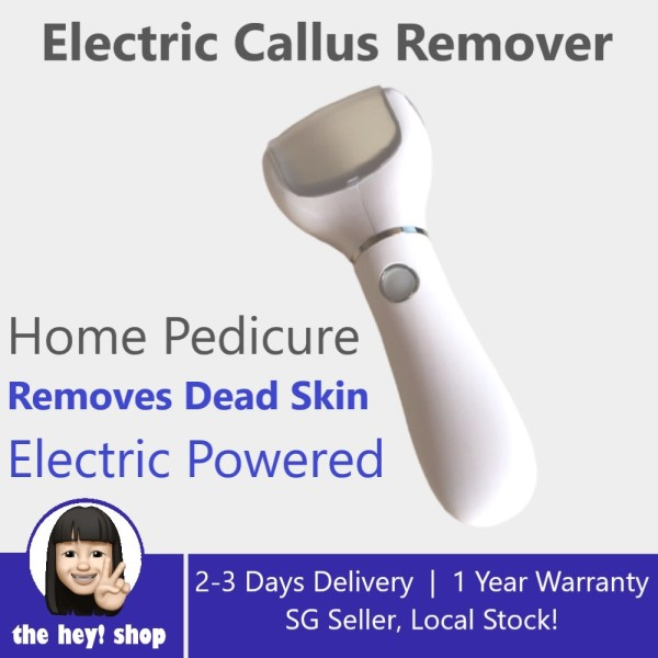 Buy Electric Callus Remover, Rechargeable Foot File Hard Skin Remover Pedicure Tools for Feet Electronic Callus Shaver Waterproof Pedicure kit for Cracked Heels and Dead Skin with 2 Coarse Roller Heads Singapore