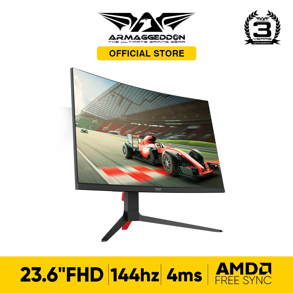 Armaggeddon Pixxel+ Xtreme XC24HD Curved Screen 144hz Refresh Rate 4ms Response Time