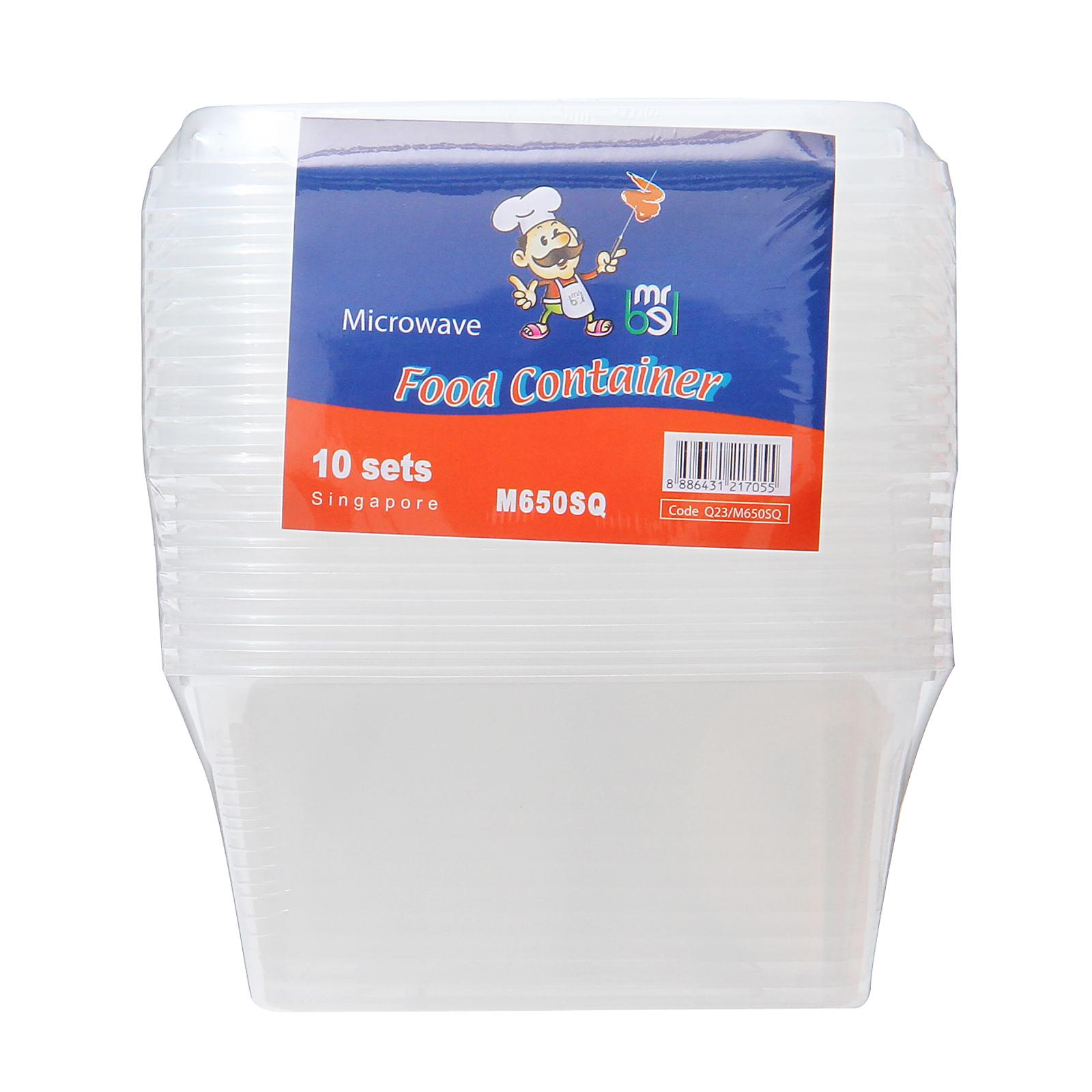 Mr Bel Disposable Square Food Containers
