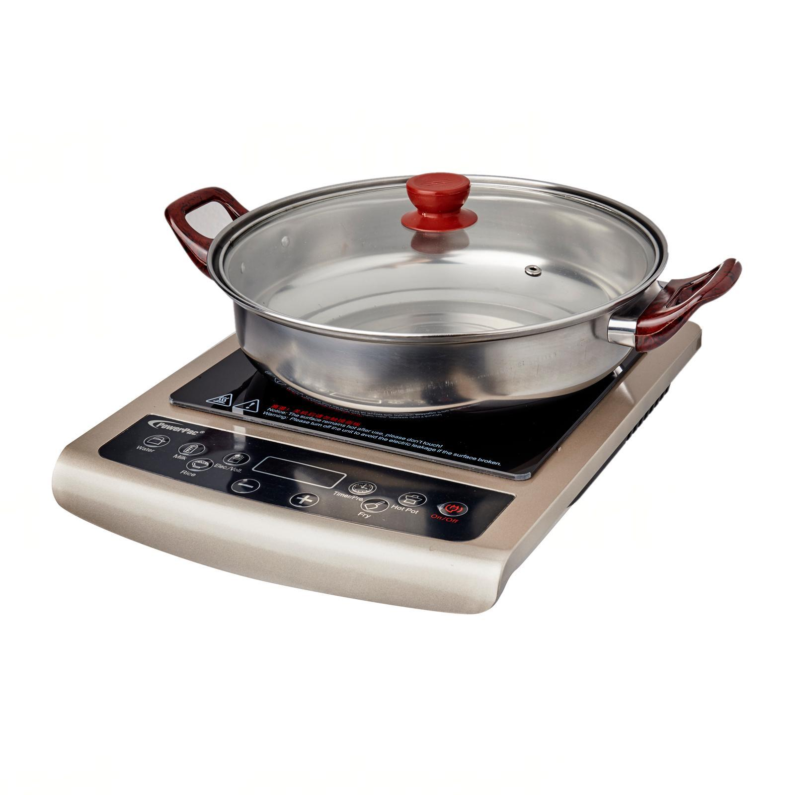 PowerPac Induction Cooker W/ Ss Pot / Overheat Protection (Ppic848)