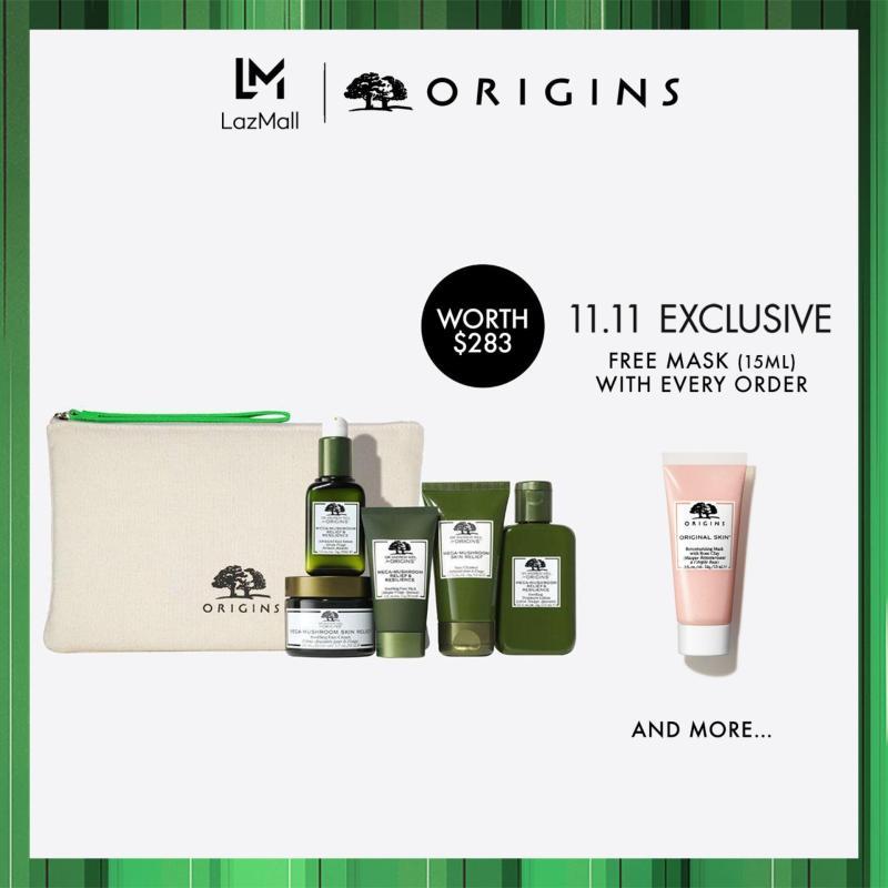 Buy [Limited Edition] Origins MEGA MUST-HAVES: Mega-Mushroom Skin Soothers Set (Worth $283) Singapore