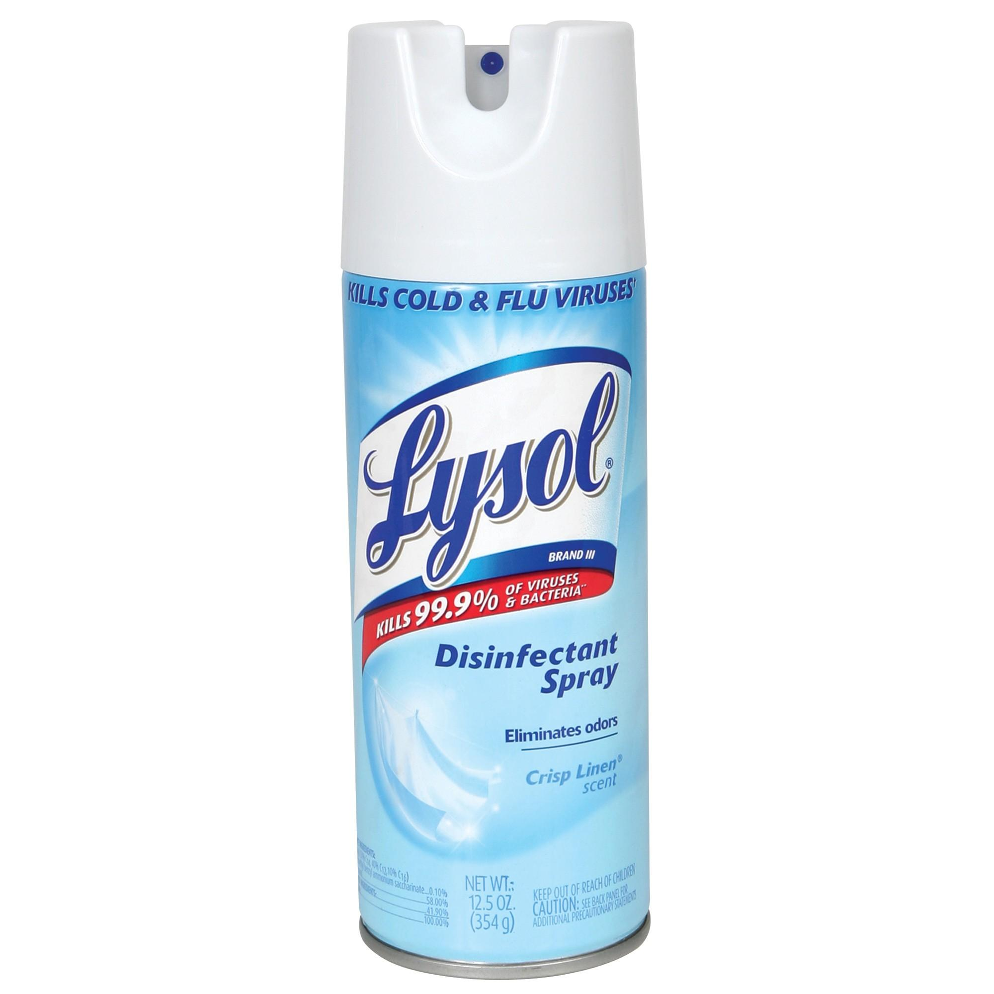 Lysol Crisp Linen Disinfectant Spray - 354g By Hy-Ray Pte Ltd