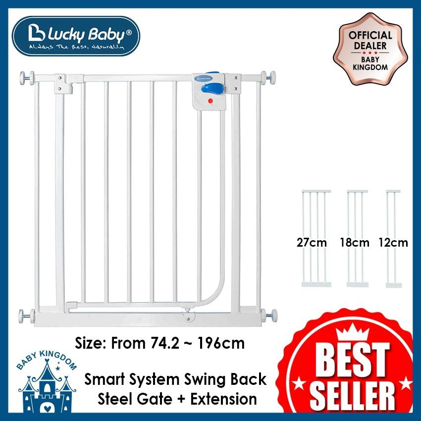 Lucky Baby Smart System Swing Back Steel Gate By Baby Kingdom.