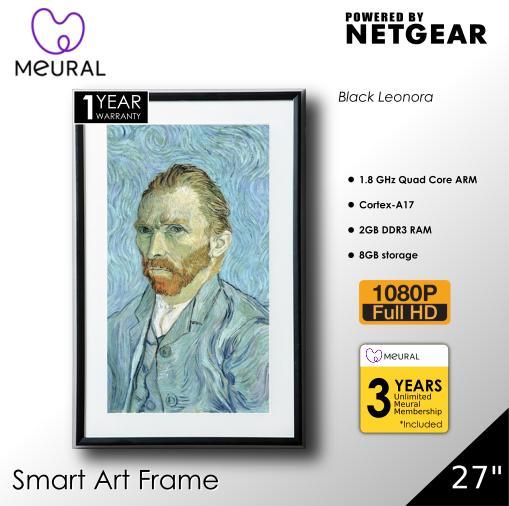 Meural Canvas 27 Smart Art Frame - Black Leonora