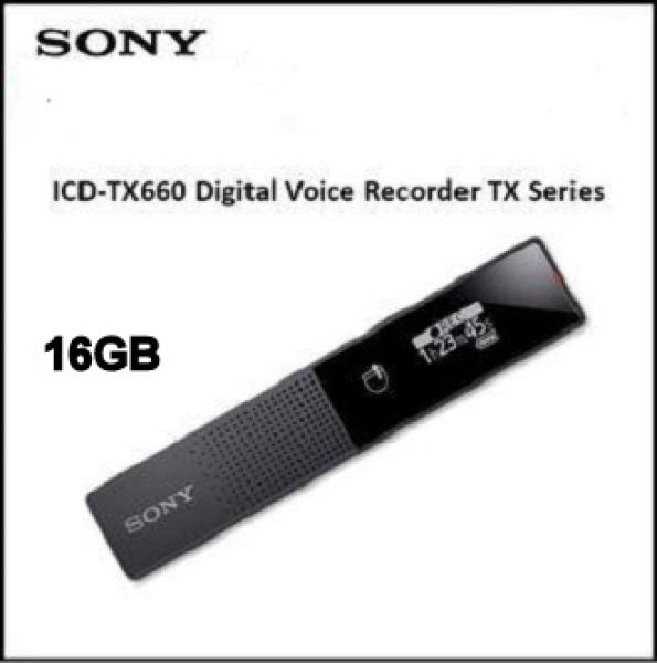 Sony ICD-TX660 Digital Voice Recorder 16GB Storage Singapore