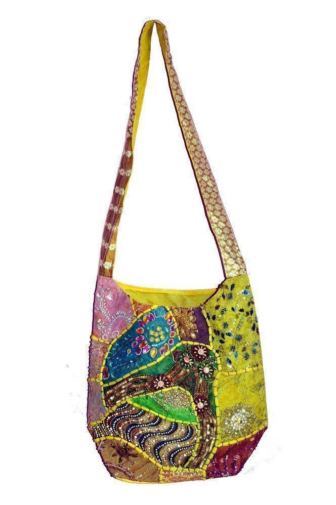 Indian Jaipuri cross body Handbags Multicolor Handbag beautiful bags [CBX]