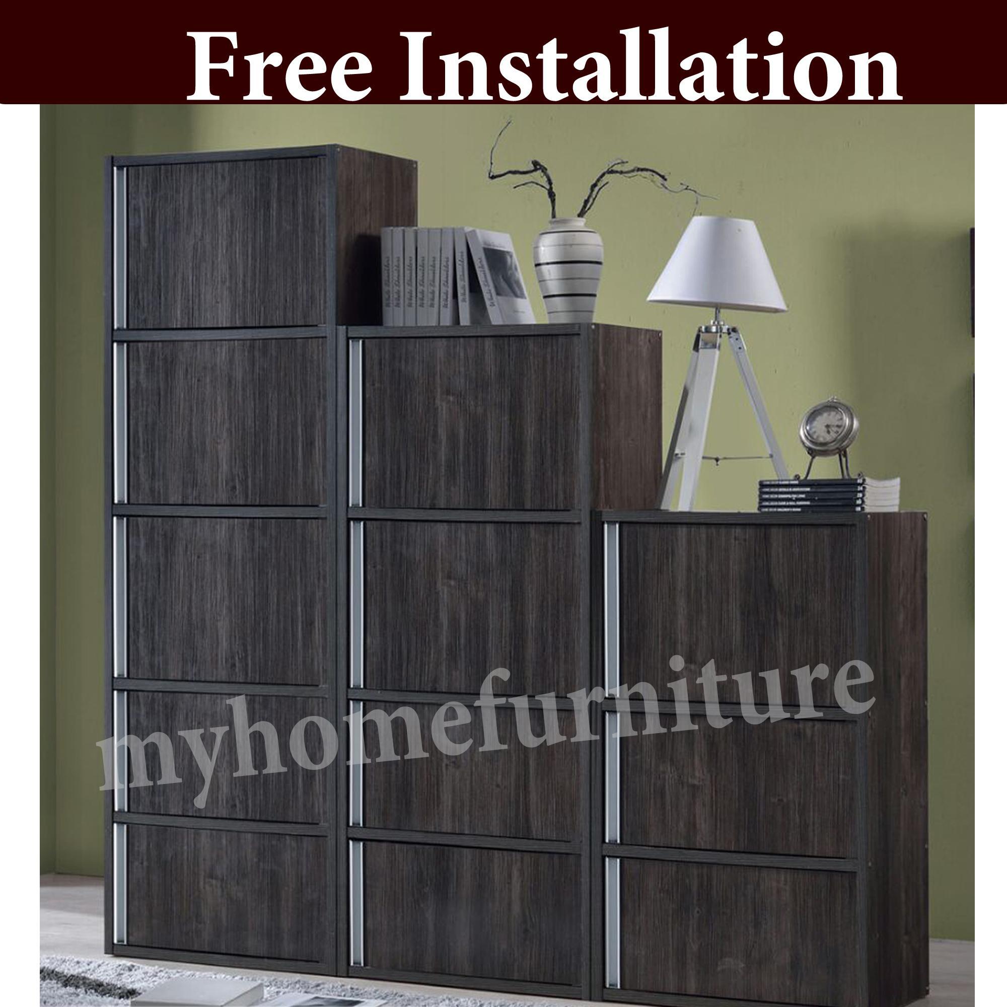 Diane Cabinet / Utility Cabinet / Bookshelf / Bookcase (Dark Oak) (Free Installation)