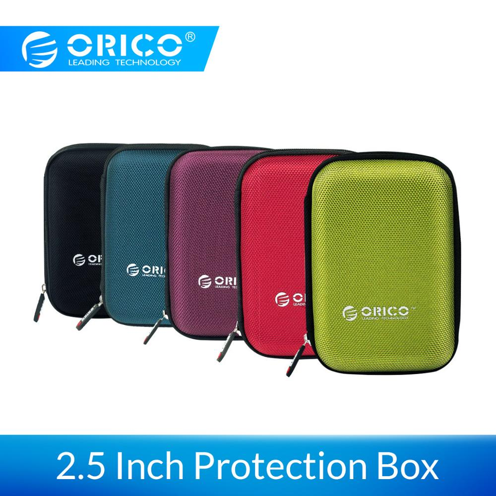 Orico 2.5 Inch Hdd Box Bag Case Portable Hard Drive Bag For External Portable Hdd Hdd Box Case Storage Protection Mini Power Bank Caseelectronic Organizer Carrying Case.