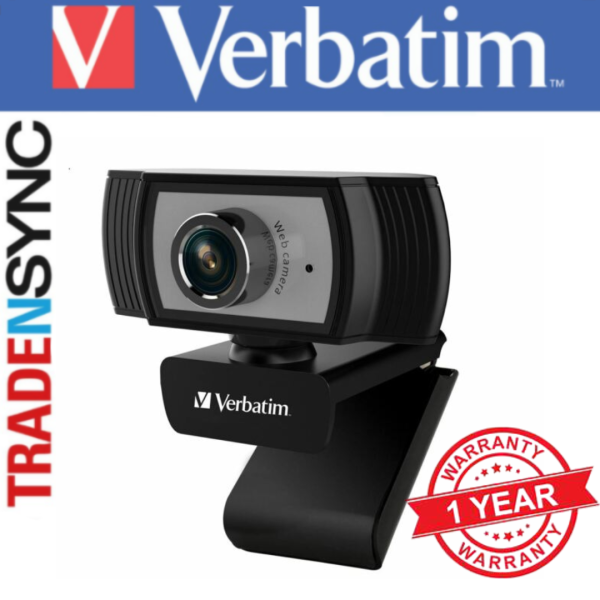 Verbatim 1080P Full HD Webcam   Black in colour   USB Connectivity   Built-in Microphone   Cable 200cm long   Product weight 117g   Manual focus from 30cm to infinity   model: Verbatim 66614