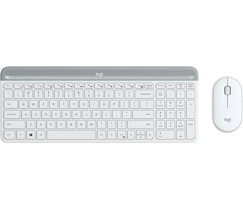 LOGITECH MK470 WIRELESS SLIM COMBO OFF WHITE Singapore