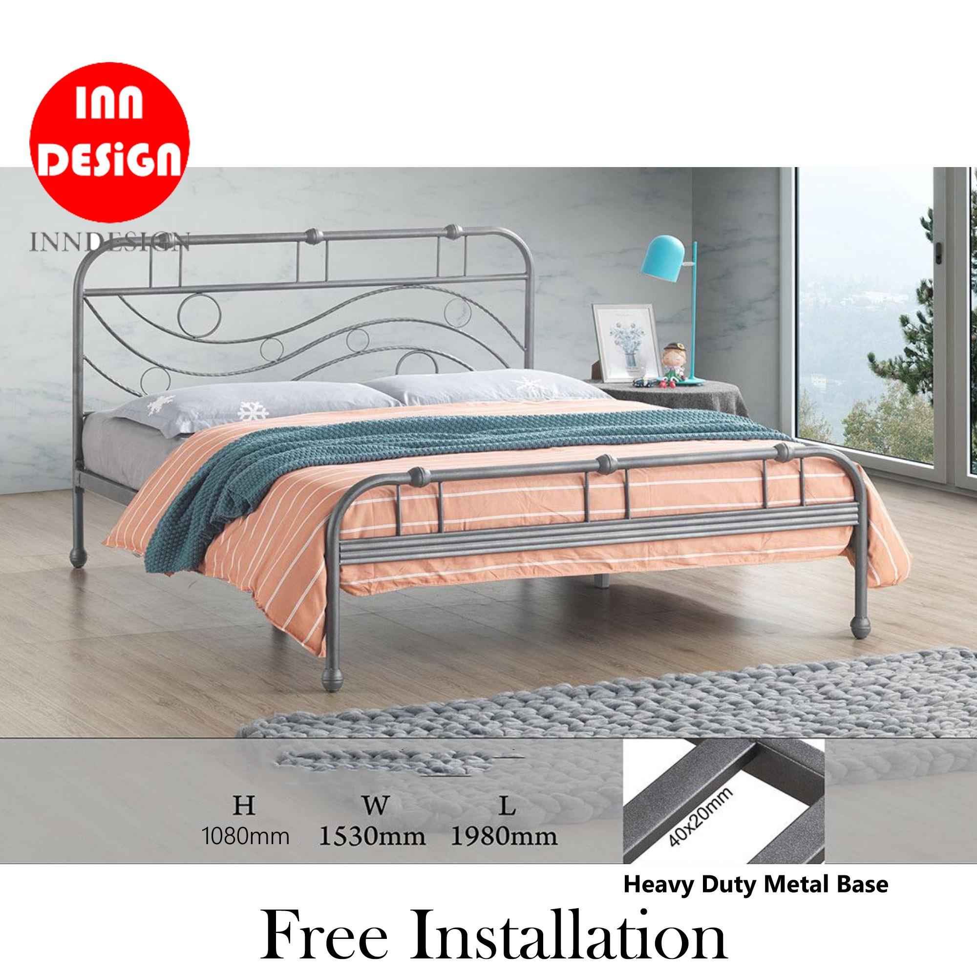 [NEW ARRIVAL] [6 Months Warranty] Zano Queen Heavy Duty Metal Bedframe / Bed / Bed frame (Free Delivery and Installation)