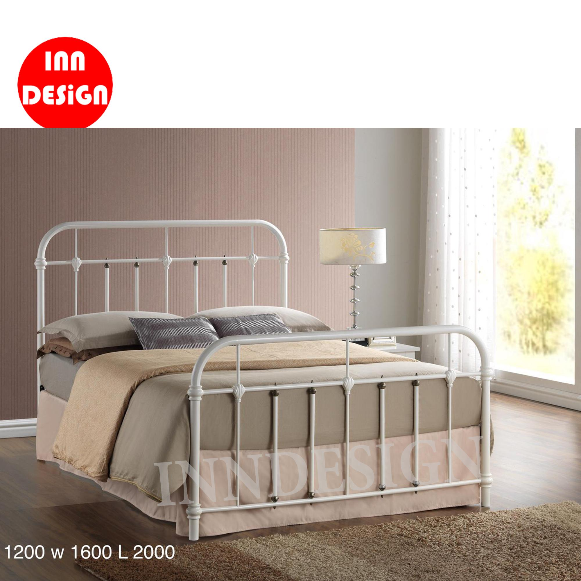 [1 Years Warranty] [FREE INSTALLATION] Ebie Queen Metal Bed / Metal Bed Frame (Queen)