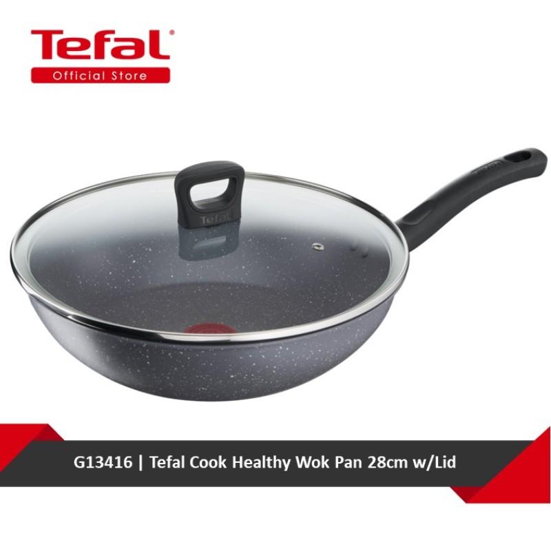 Tefal Cook Healthy Wok Pan 28cm w/Lid G13416 Singapore