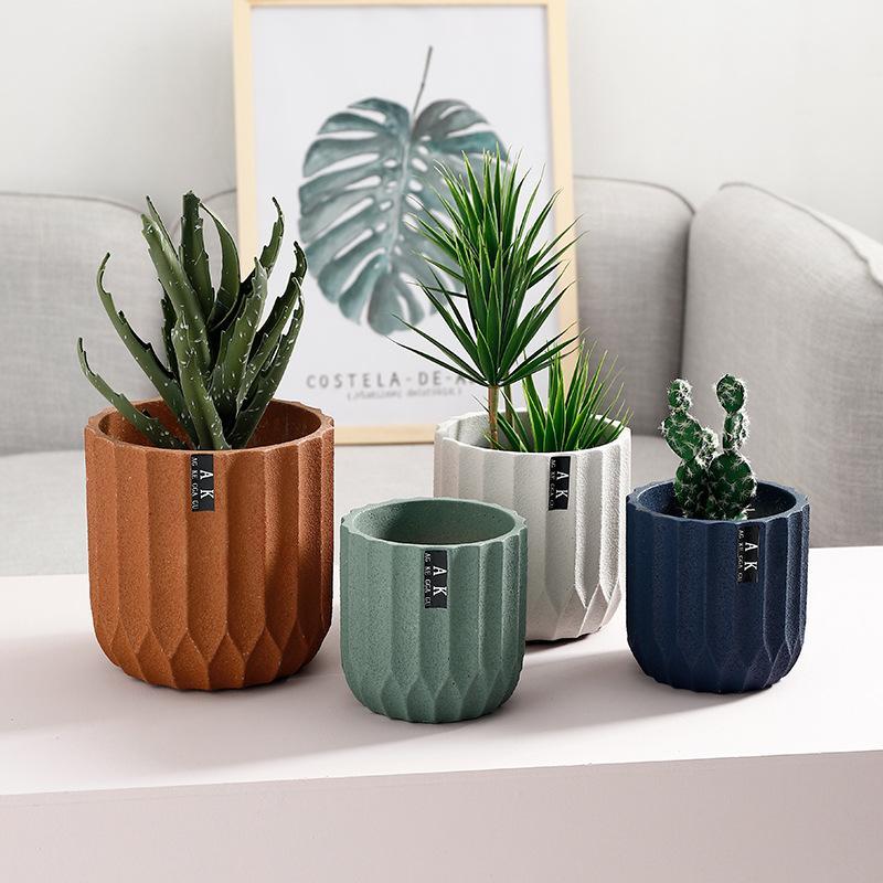 Nordic Pastel Color Design Ceramic Made Flower / Plant Pot / Planter