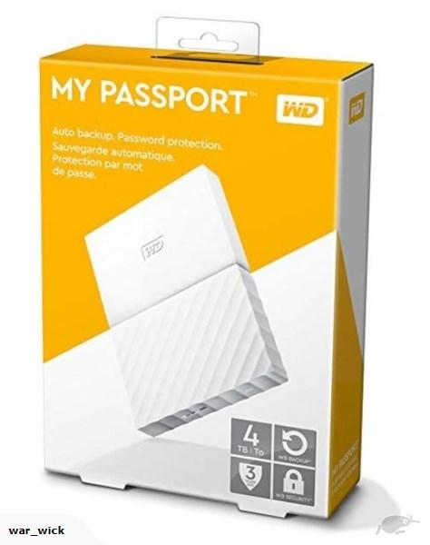 Western Digital 4TB My Passport External HDD WD 4 TB Ext Harddisk Hard Disk Portable USB