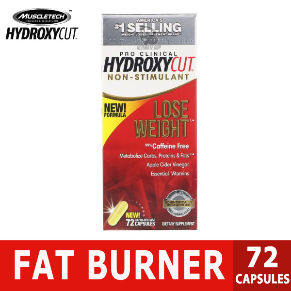 Buy Hydroxycut | Pro Clinical | Non-Stimulant Caffeine-Free | Fat Burner Increase Metabolism | 72 Rapid-Release Capsules Singapore