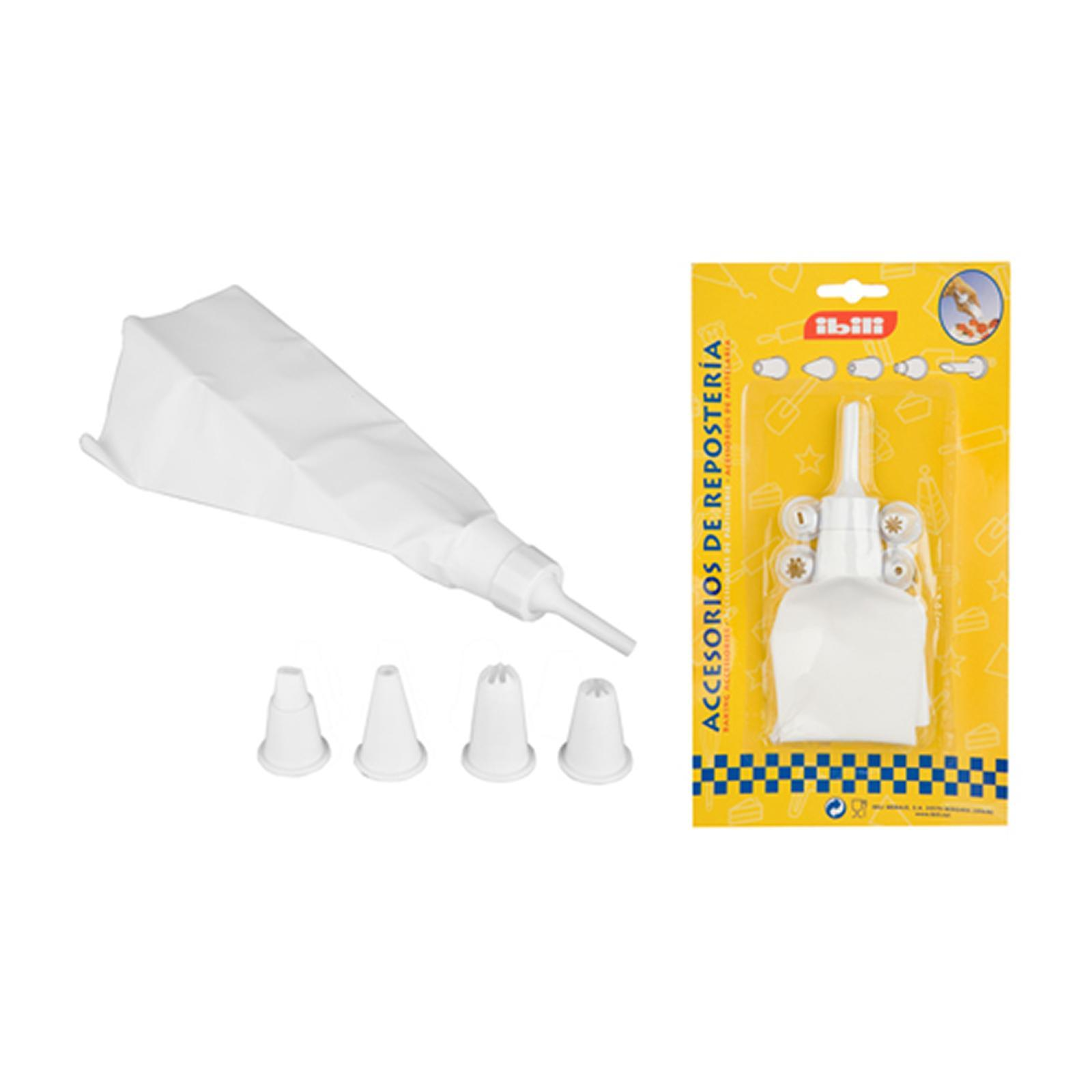 Ibili Pastry Tube Set With 5 Nozzles And Icing Bag - By ToTT