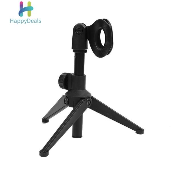 {Hot Sale Festival}Universal Adjustable Desk Capacitive Microphone Stand Portable Foldable Tripod MIC Tabletop Stand Holder with Microphone Clip Singapore