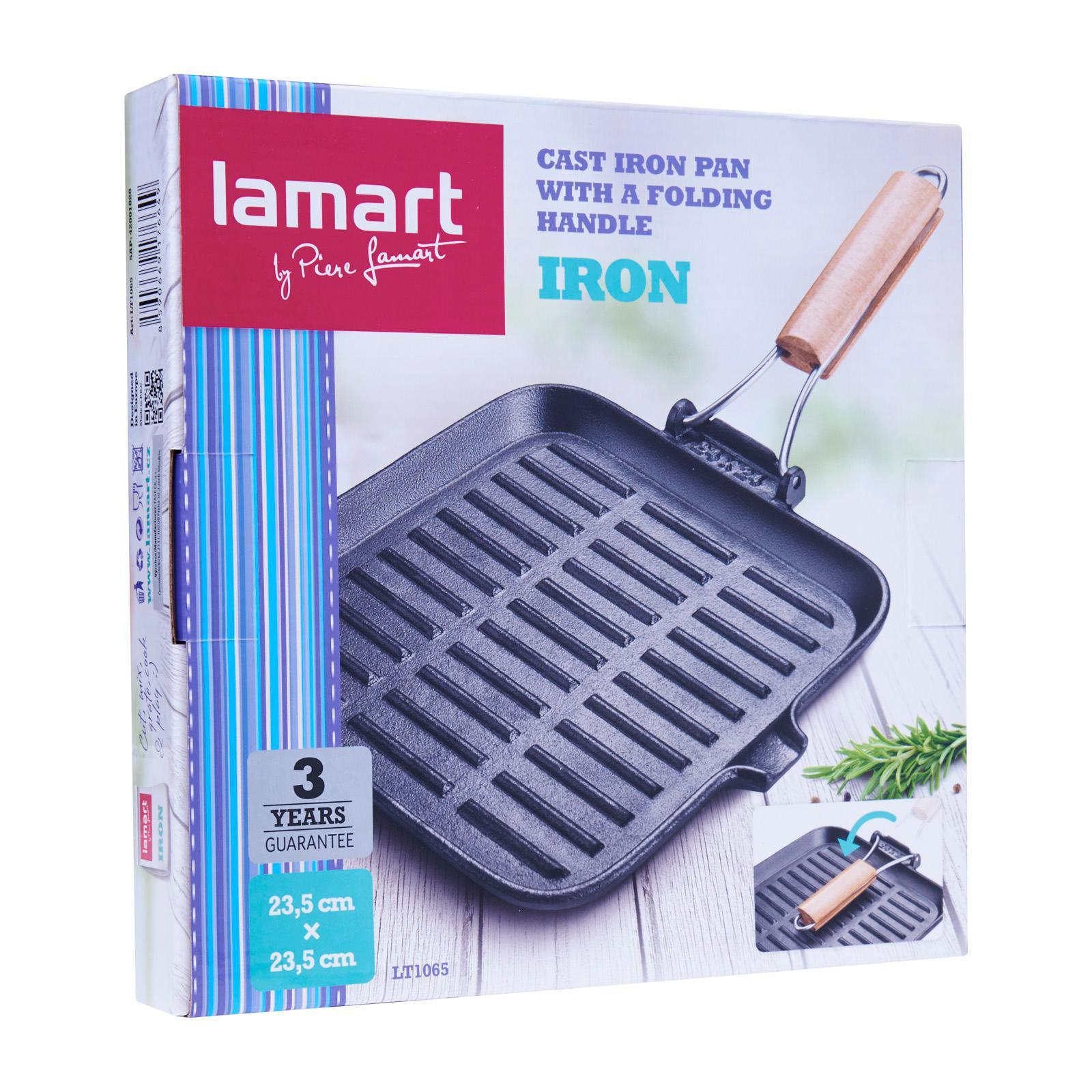 Lamart Induction Ready Grill Fry Pan 23.5X23.5Cm