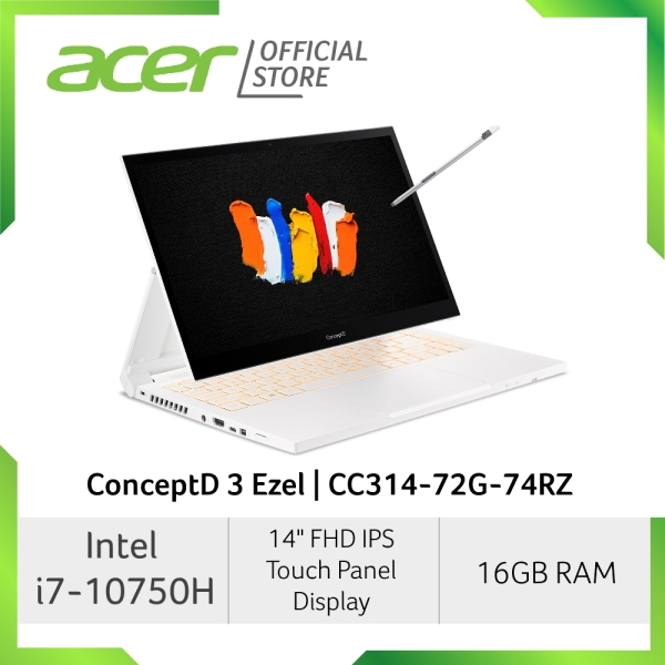 Acer ConceptD 3 Ezel CC314-72G-74RZ NEW 14 Inches FHD IPS SlimBezel Touch panel Laptop with AES pen solution