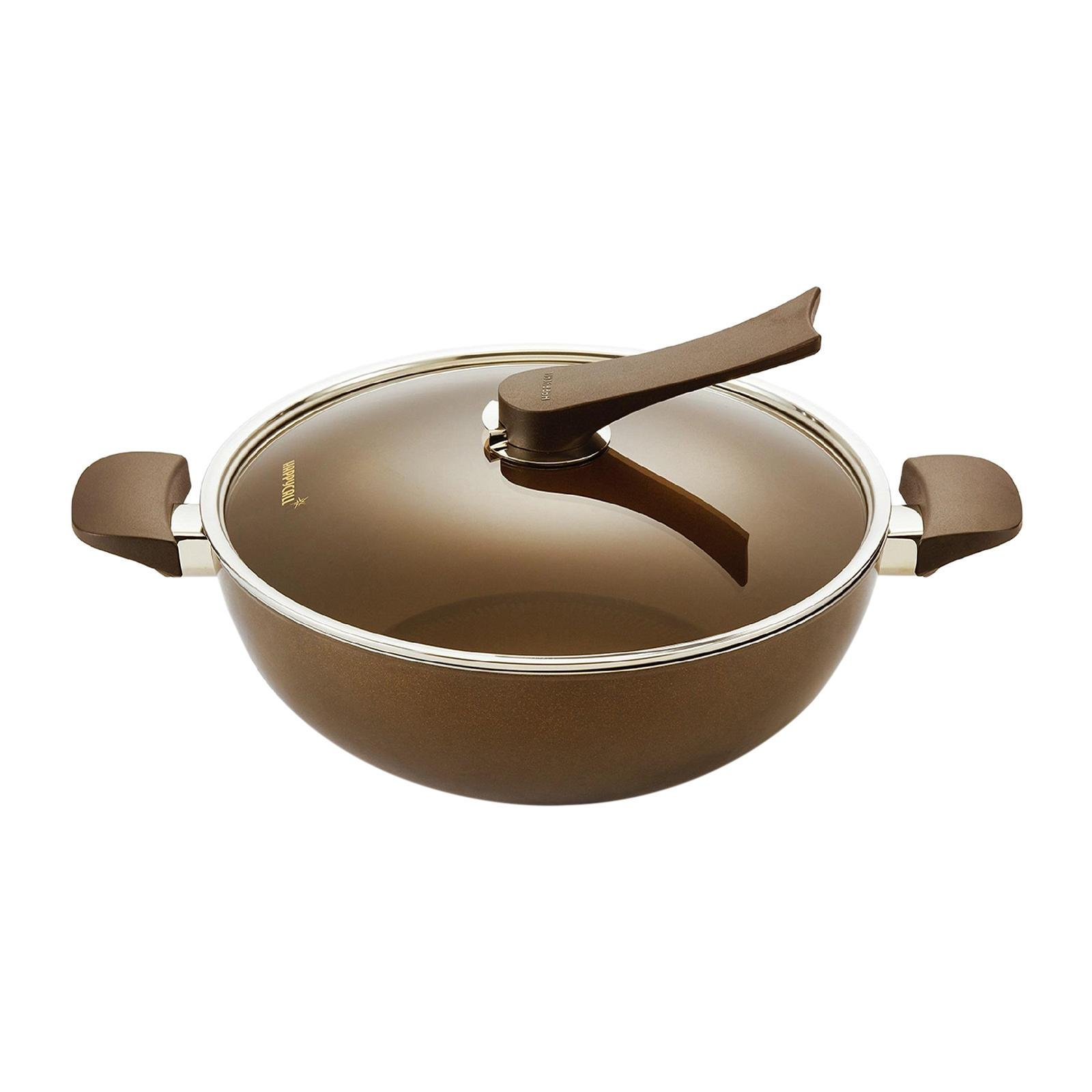 Happycall IH Gold Die-Cast Chef Wok With Lid - 32CM