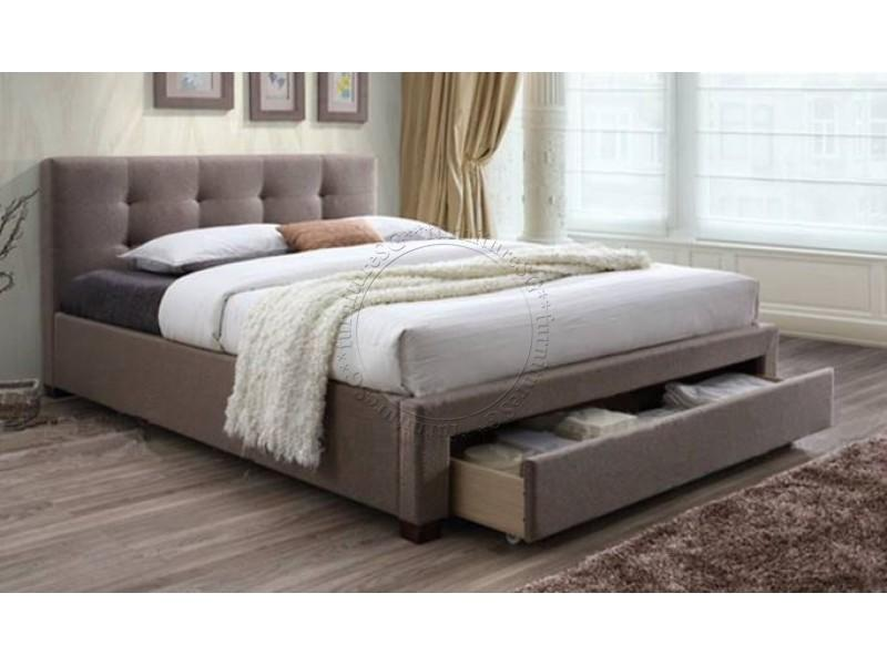 Storage Fabric Bedframe with Front Drawer