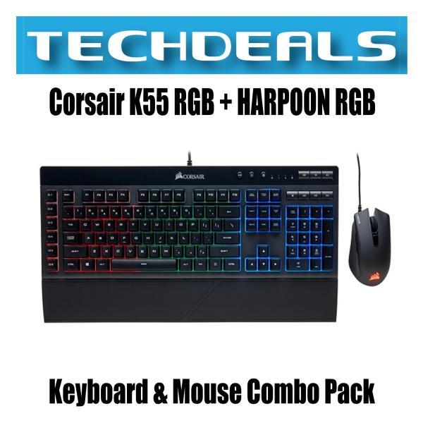 Corsair K55 RGB + HARPOON RGB Keyboard & Mouse Combo Pack Singapore