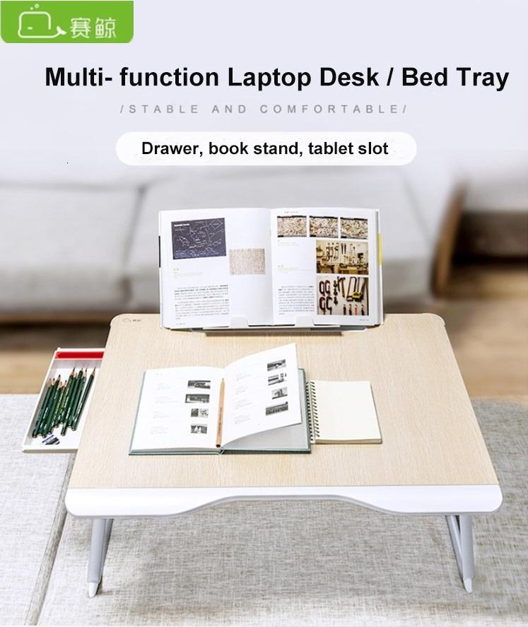 Xgear G6 (650 x 490 x 9mm) Foldable Table Multi-Purpose with Drawer and Book Stand