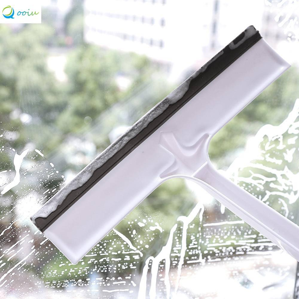 Qooiu Professional T-glass Absorber Cleaning Brush Window Glass Tile Wall Brush Wiper Cleaner Washing Scraper Household Manual Cleaning Tool Easy to Use Does Not Scratch Glass