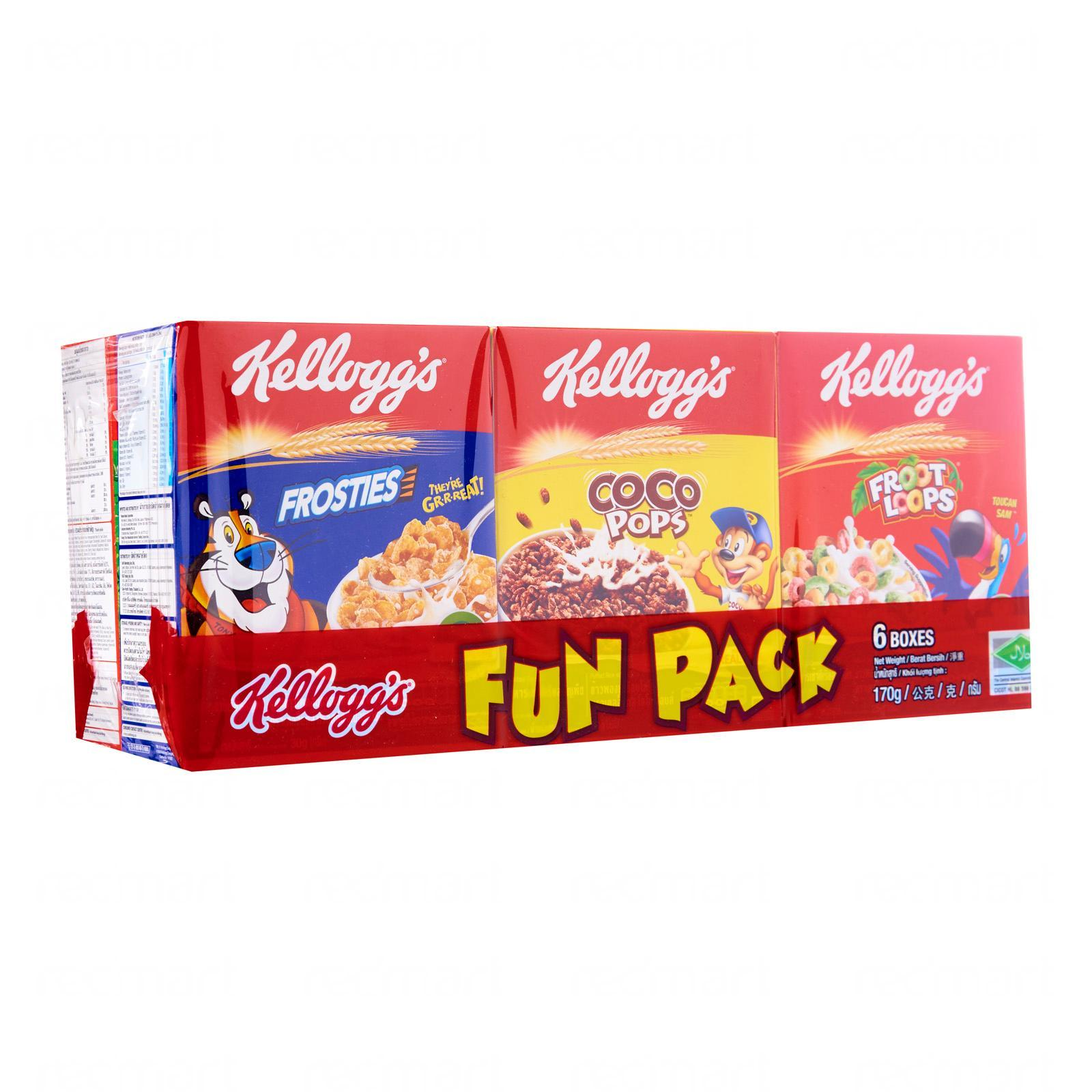 Kelloggs Cereal Fun Pack By Redmart.