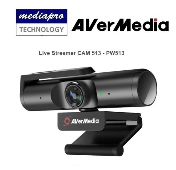 AVERMEDIA PW513 Live Streamer CAM 513 - 1 Year Local Distributor Warranty