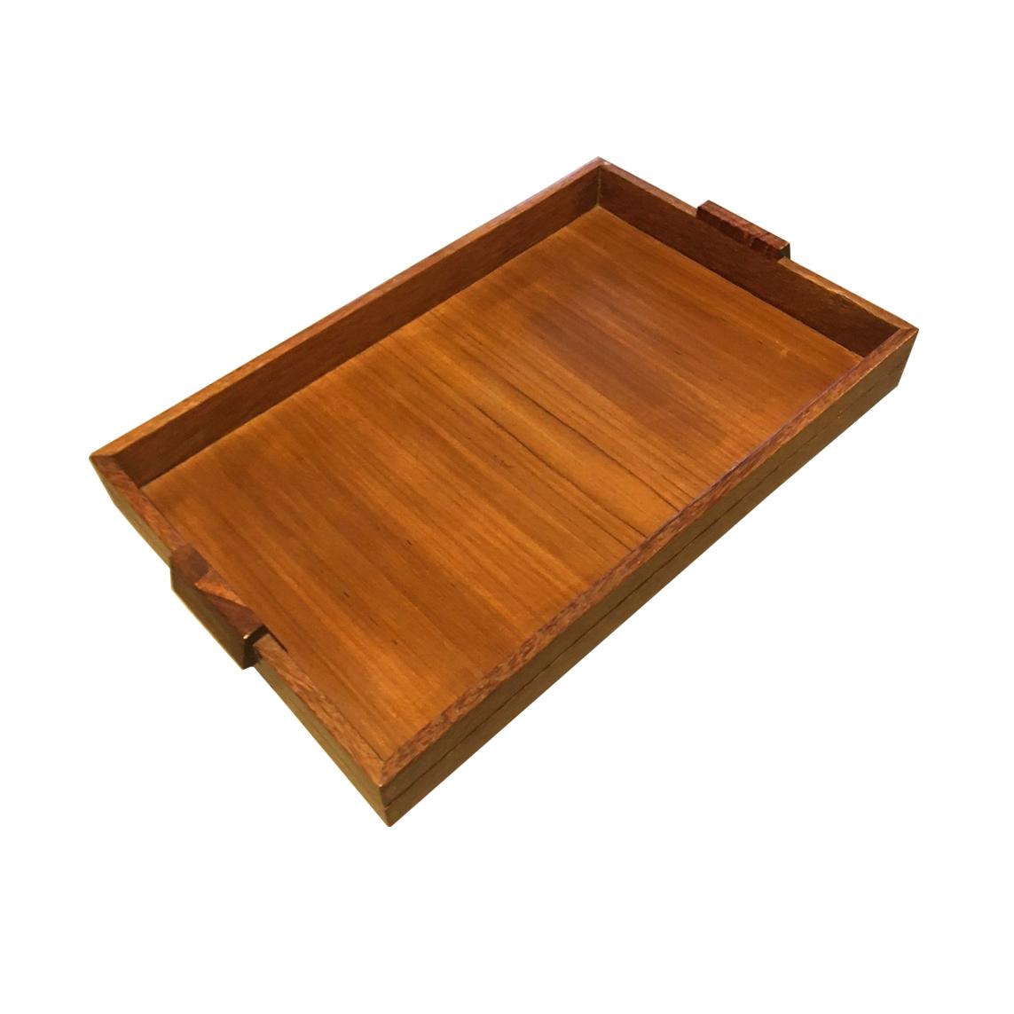 D132 - Wooden Tray B - Teak d43