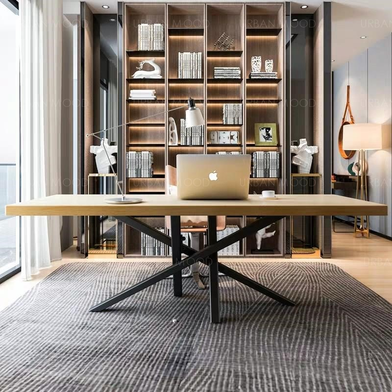 AXIS Modern Industrial Wishbone Dining Office Table
