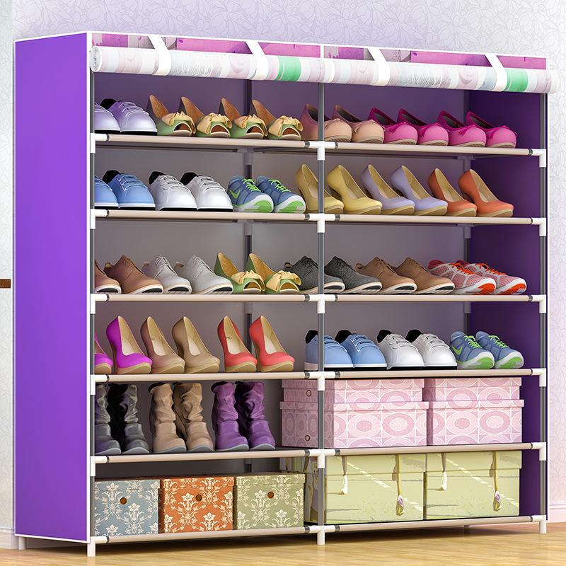 Simple Shoe Rack Multilayer Household Storage SHOEBOX Fabric Simple Dustproof Shoe Rack Sub-
