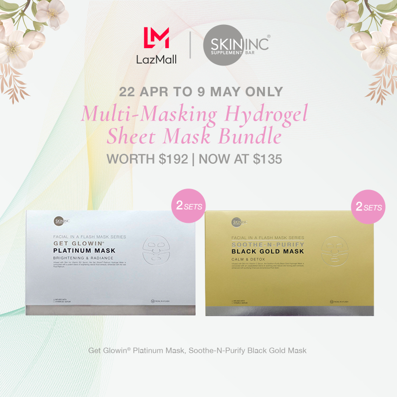 Buy [Mothers Day Exclusive] Skin Inc Multi-Masking Hydrogel Sheet Mask Bundle Set: Soothe & Purify Set of 3 x 2 + Get Glowin Set of 3 x 2 - Worth SGD192 Singapore
