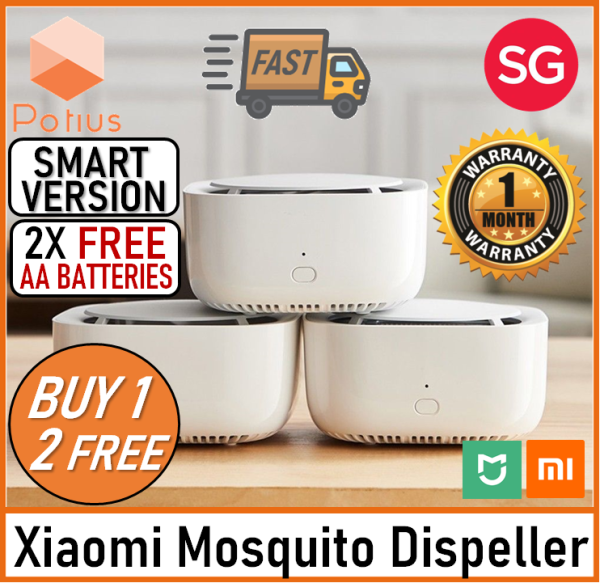 [SMART VERSION+FREE BATTERY] Xiaomi Mijia Mosquito Dispeller | Portable Electric Household Mosquito Insect Repeller With Timing Function | 3PCS