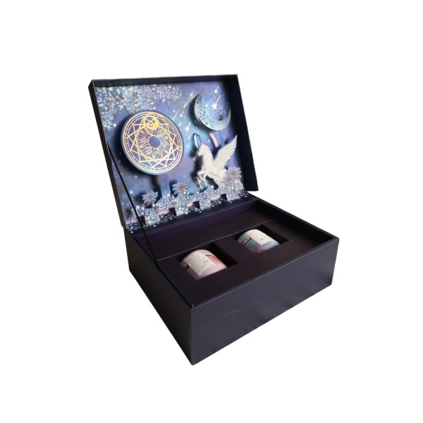 Buy Twin Wooden Wick Candle Gift Set Aromatherapy Relax Soy candle and Lost at Sea Scented Soy Candle in 3D unicorn Giftbox Singapore