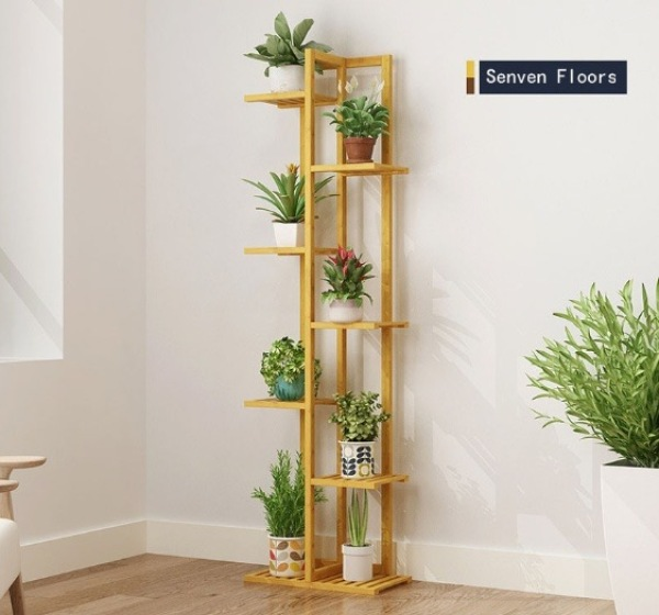 Kindergarten Plant Corner Flower Shop Frame Corner Beautification Mobile Indoor Simple Climbing Vine Shelf Multi-layer-intl