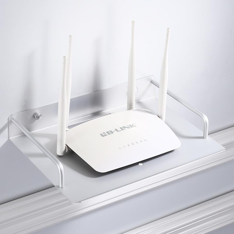 Wireless WIFI Router Frame TV Set-top Box Storage Rack-Free Punched Living Room Storage Shelf Wall Hangers Partition Bedroom